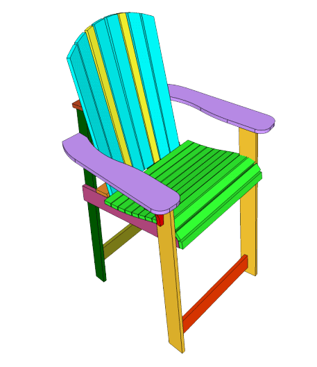 DIY Shanty Chic Adirondack Beach Chair