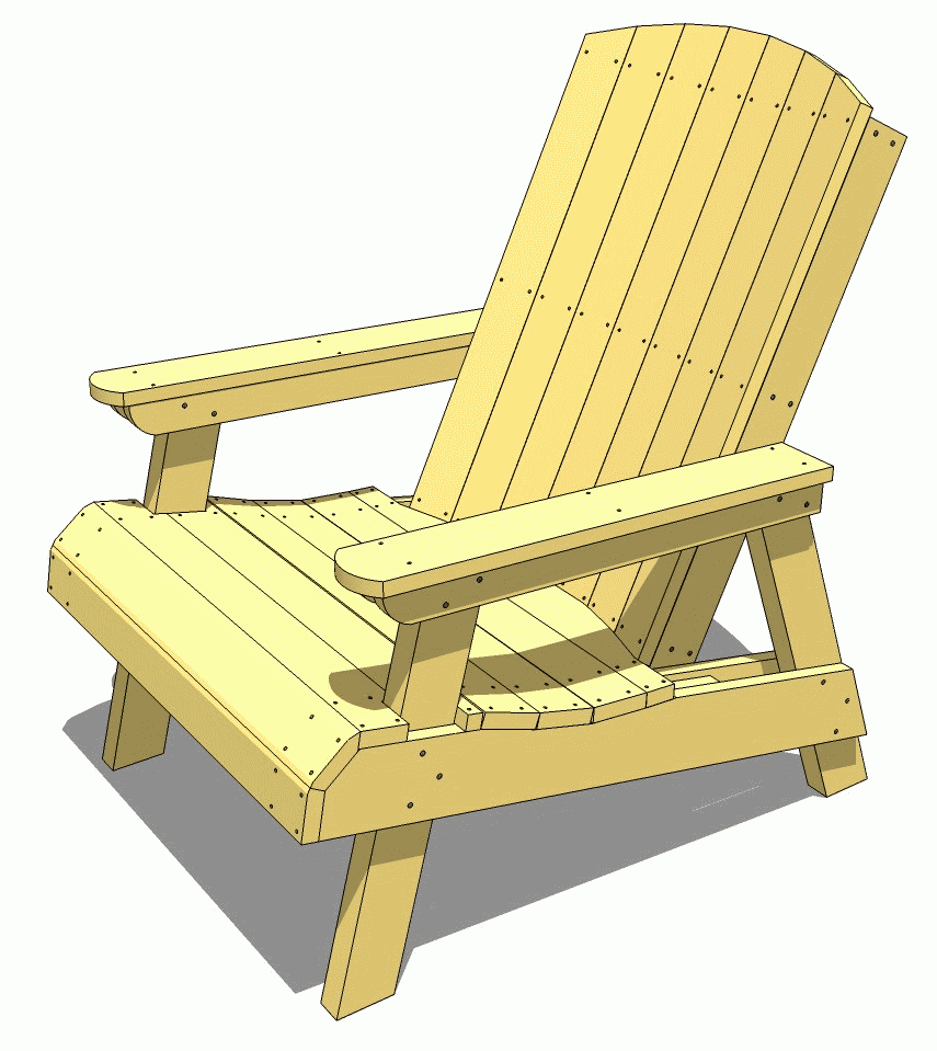 The Wood Gears Reduced Recline Adirondack Chair