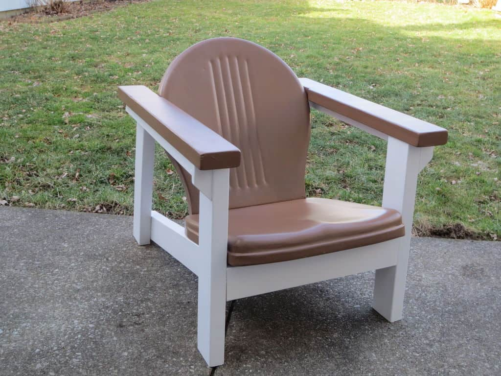 The Adirondack Cushioned Deck Chair