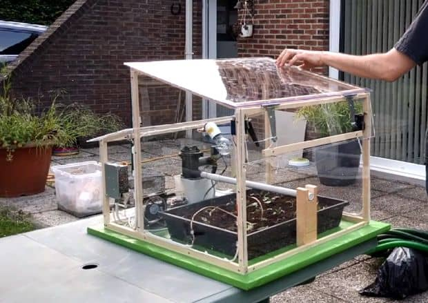 The Automated Tabletop Greenhouse Greenhouse Build