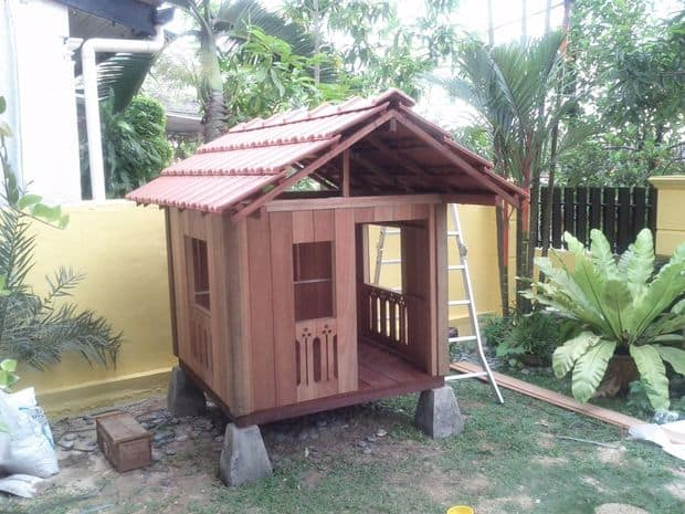 the balinese styled playhouse build - Playhouse Designs And Ideas