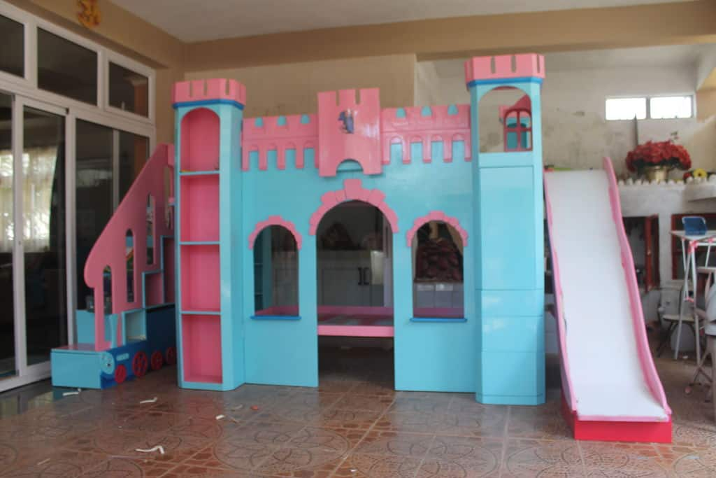 The Castle Themed Bunk Bed With Slide Build