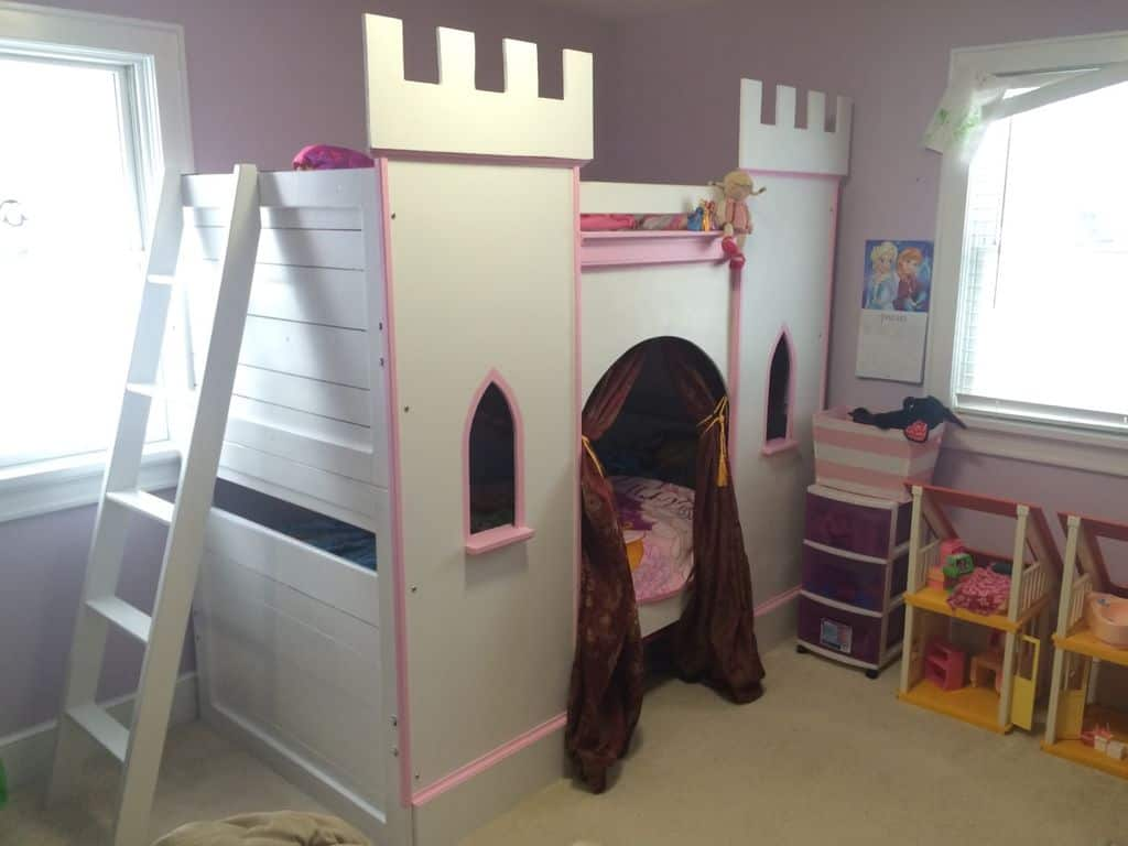 The Girl's Princess Castle Bunk Bed Plan