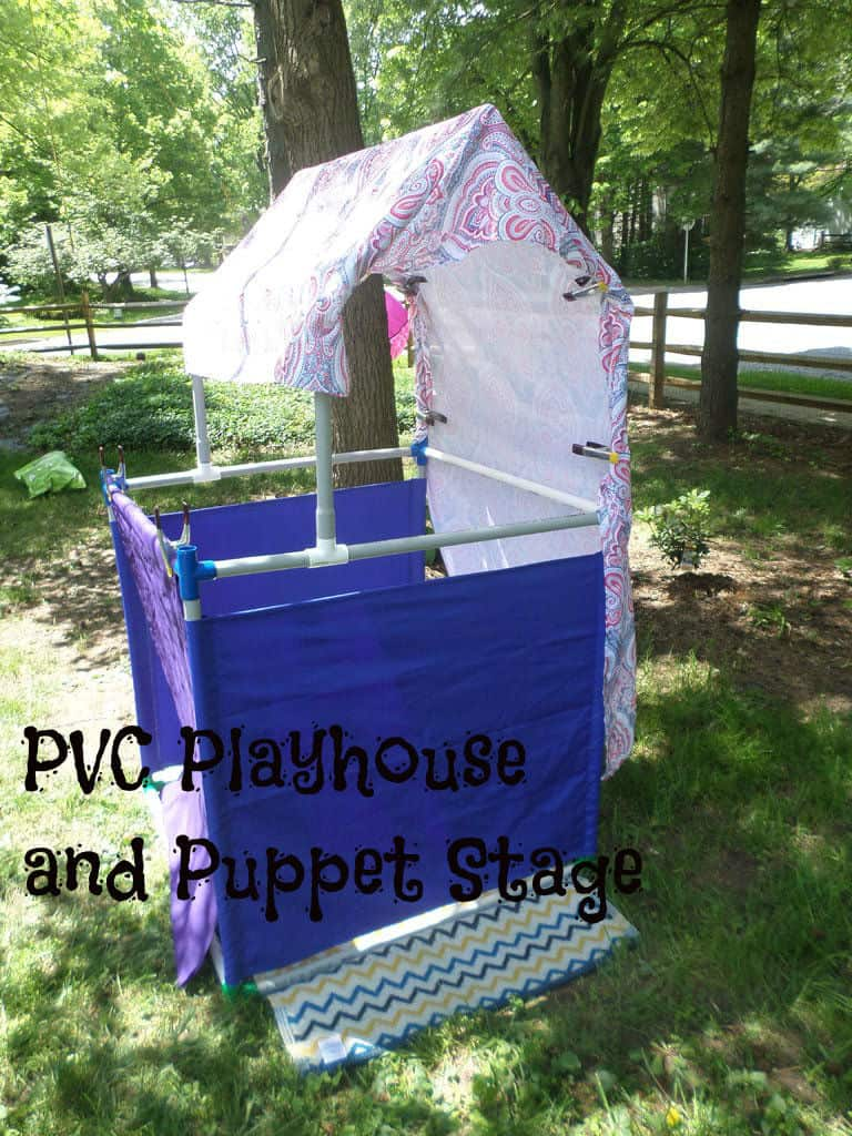 The PVC Playhouse and Puppet Stage Idea
