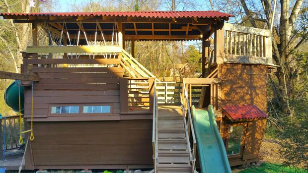 The Wooden Pirate Ship Playhouse Design