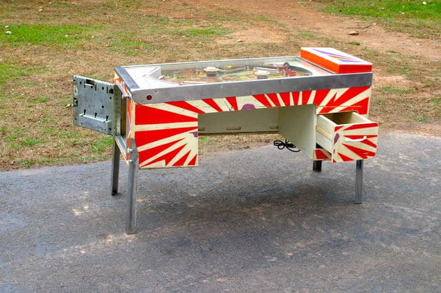 The Converted Pinball Machine Desk Build