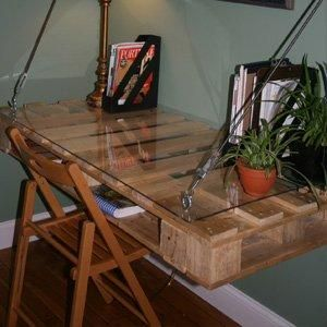 The Glass-Topped DIY Desk Design