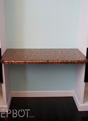 The Penny Coated Desk Design