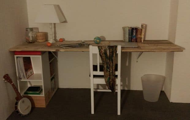 The Reclaimed Pallet Desk Project