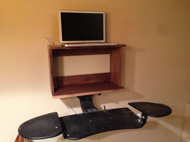 The Wall-Mounted Standing Desk Design