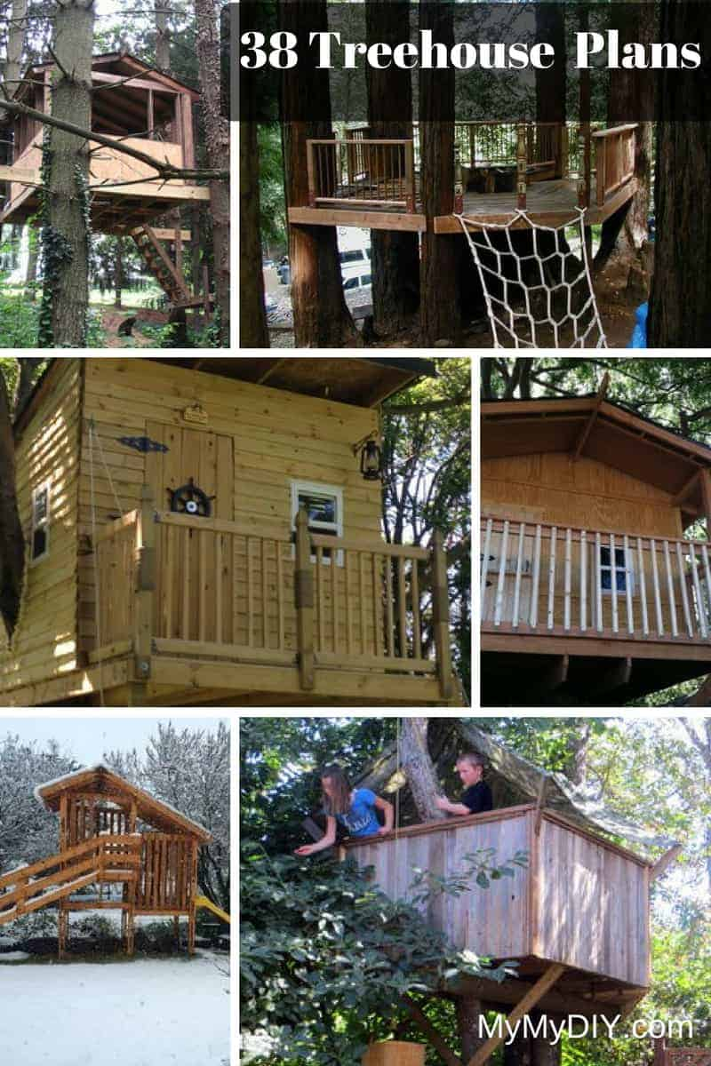 38 brilliant tree house plans mymydiy inspiring diy for Diy home floor plans