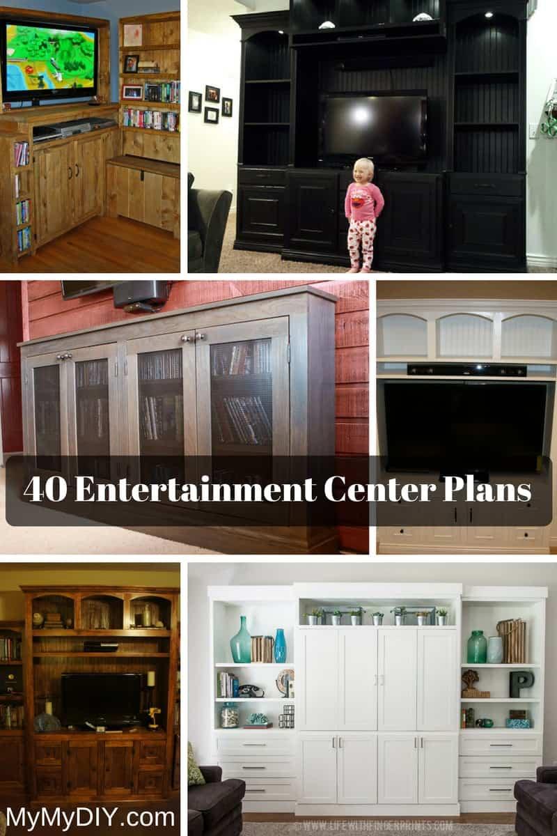 40 Diy Entertainment Center Plans Ranked Mymydiy