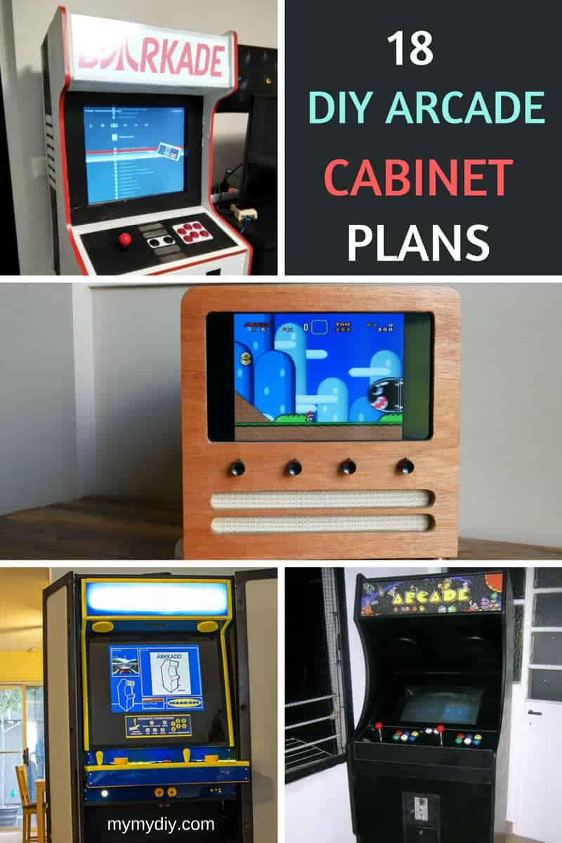 18 Fantastic Diy Arcade Cabinet Plans List Mymydiy