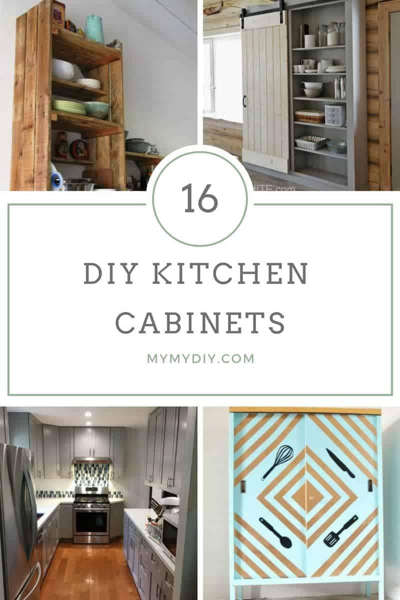 16 DIY Kitchen Cabinet Plans Free Blueprints - MyMyDIY ...