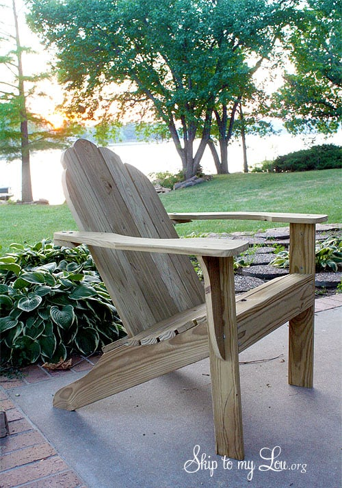 FREE ADIRONDACK CHAIR PLANS {PRINTABLE}
