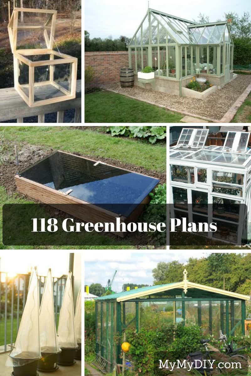 118 Diy Greenhouse Plans Mymydiy Inspiring Diy Projects