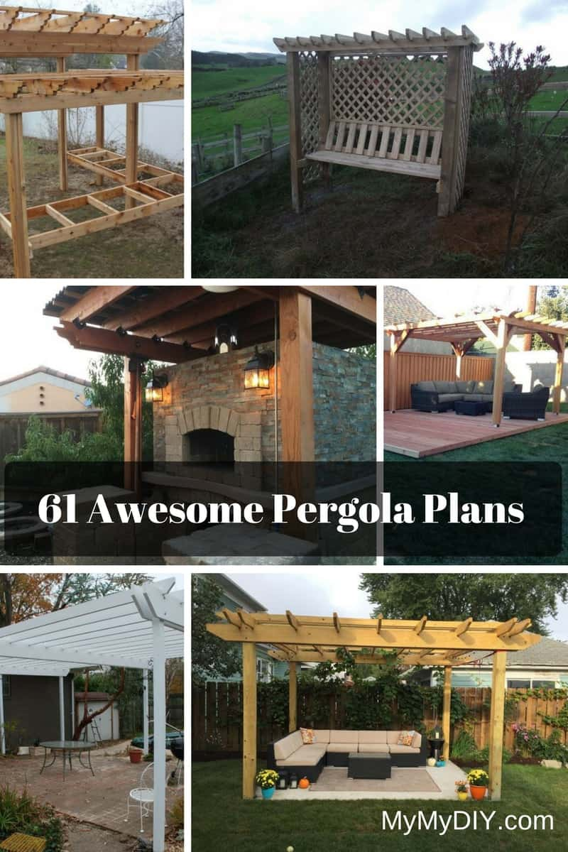 61 Pergola Plan Designs & Ideas [Free] - MyMyDIY | Inspiring DIY ...