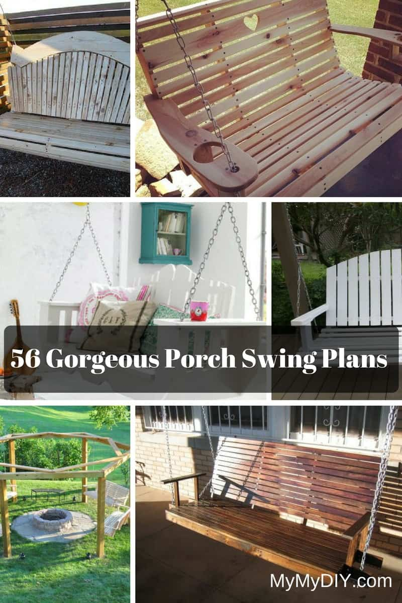 56 Diy Porch Swing Plans Free Blueprints Mymydiy