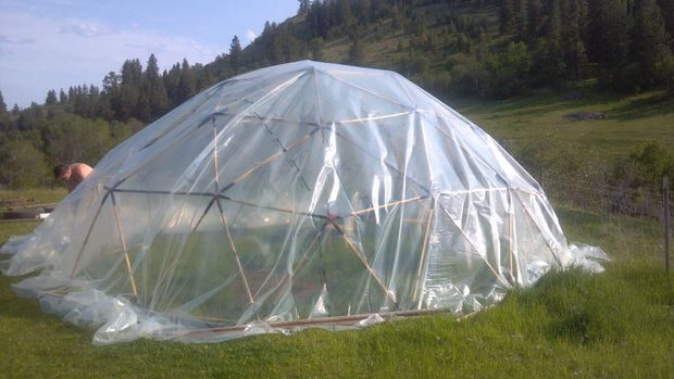 The 20 Foot Geodesic Dome Greenhouse Plan