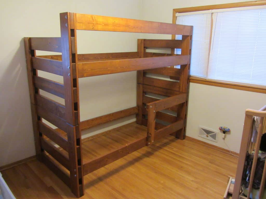 The Basic Pine Four Poster Bunk Bed Build