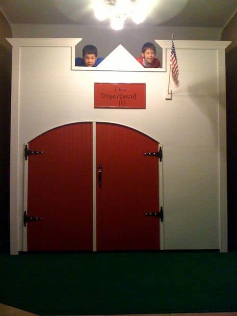 The Boy's Firestation Custom Playhouse Idea