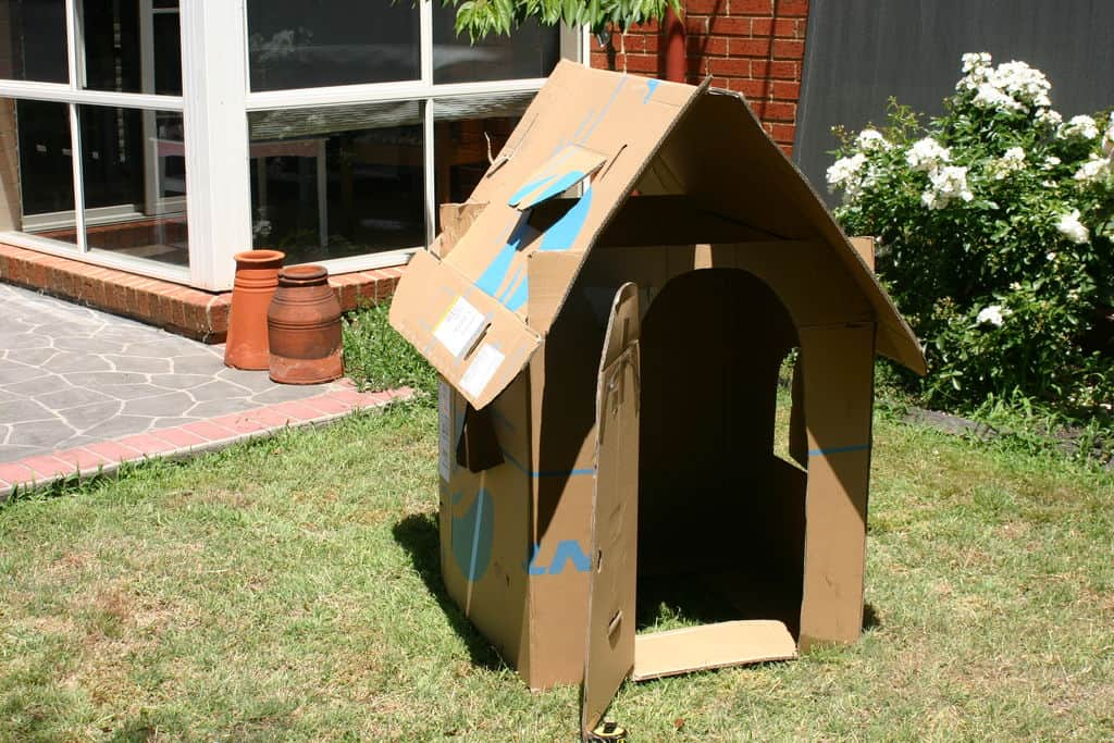 The Childrens Upcycled Cardboard Box Playhouse Plan