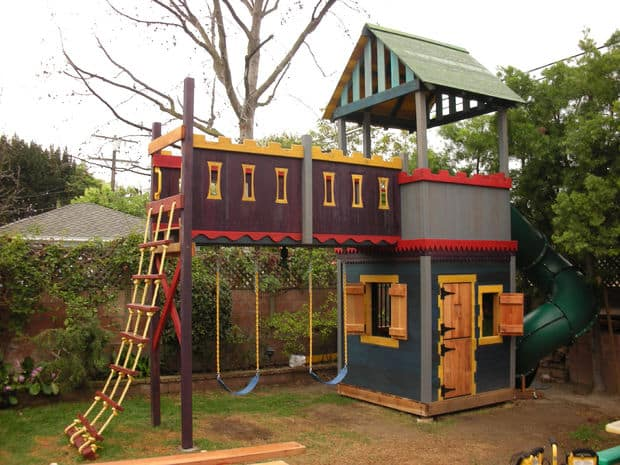 75 dazzling diy playhouse plans free mymydiy for How to make a playhouse out of wood
