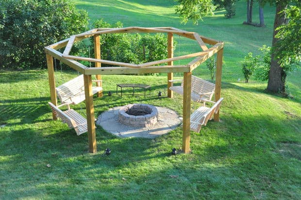The Hanging Porch Swing Fire Pit Build