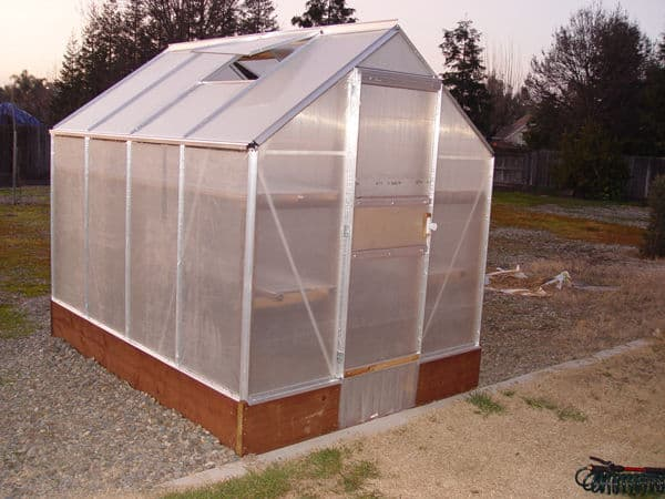 The Harbor Freight Improved 6 x 8 Greenhouse Plan