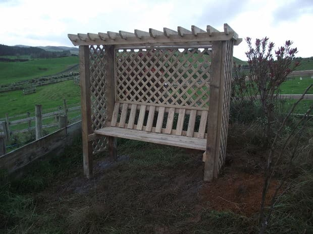 The Pergola Arbor Seat Blueprint