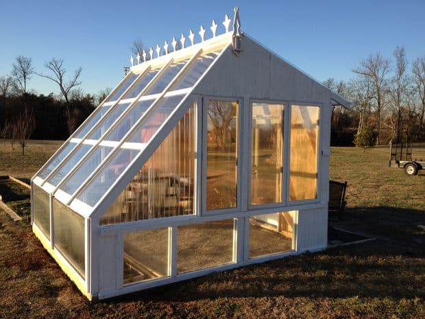 The Reclaimed Window Greenhouse Build