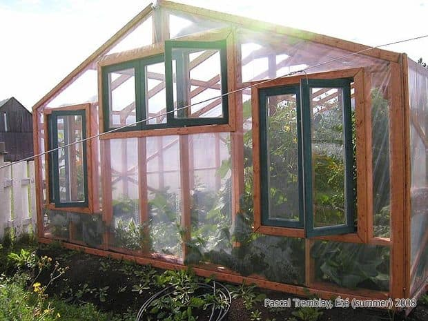The Recovered Window & Door Greenhouse Design