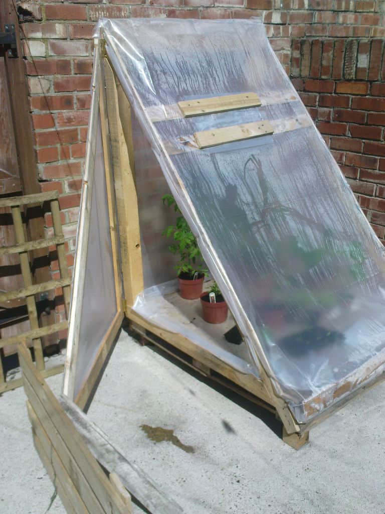 The Recycled Wood Pallet Greenhouse Blueprint