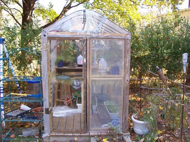 The Recyled Deck Wood Greenhouse Plan