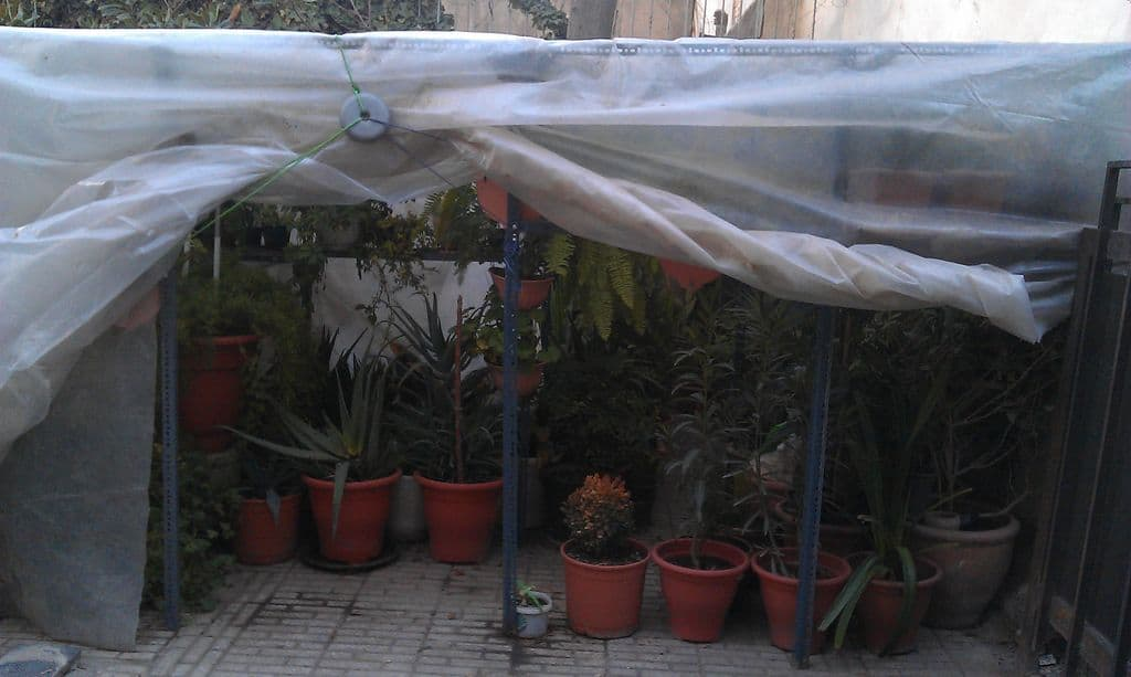 118 diy greenhouse plans mymydiy inspiring diy projects for Simple homemade greenhouse