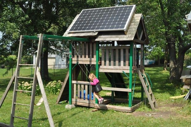The Solar Swing-Set and Photovoltaic Playhouse Blueprint