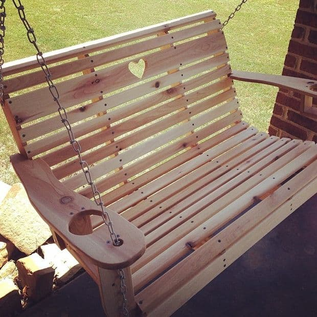 The Solder-Branded Small Porch Swing Design