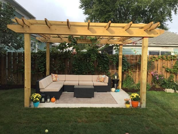 The String Light Cedar Pergola Build - 61 Pergola Plan Designs & Ideas [Free] - MyMyDIY Inspiring DIY