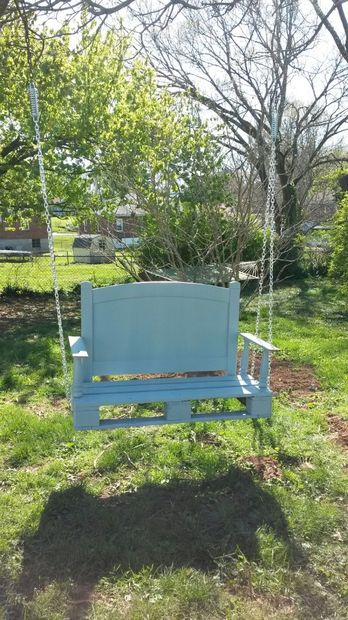The Upcycled Twin Headboard Porch Swing Plan