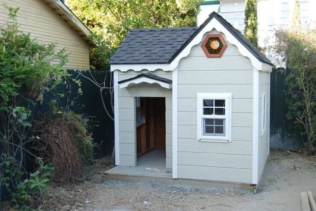 The Vintage Shingled Princess Playhouse Idea