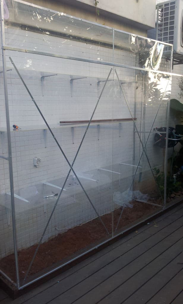 The Wall Embedded Greenhouse Plan
