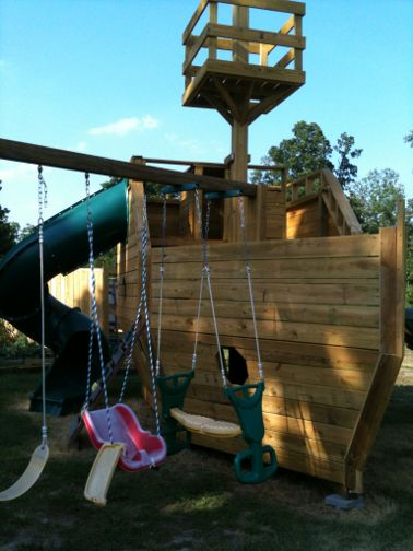 The Wooden Pirate Ship Playhouse Plan