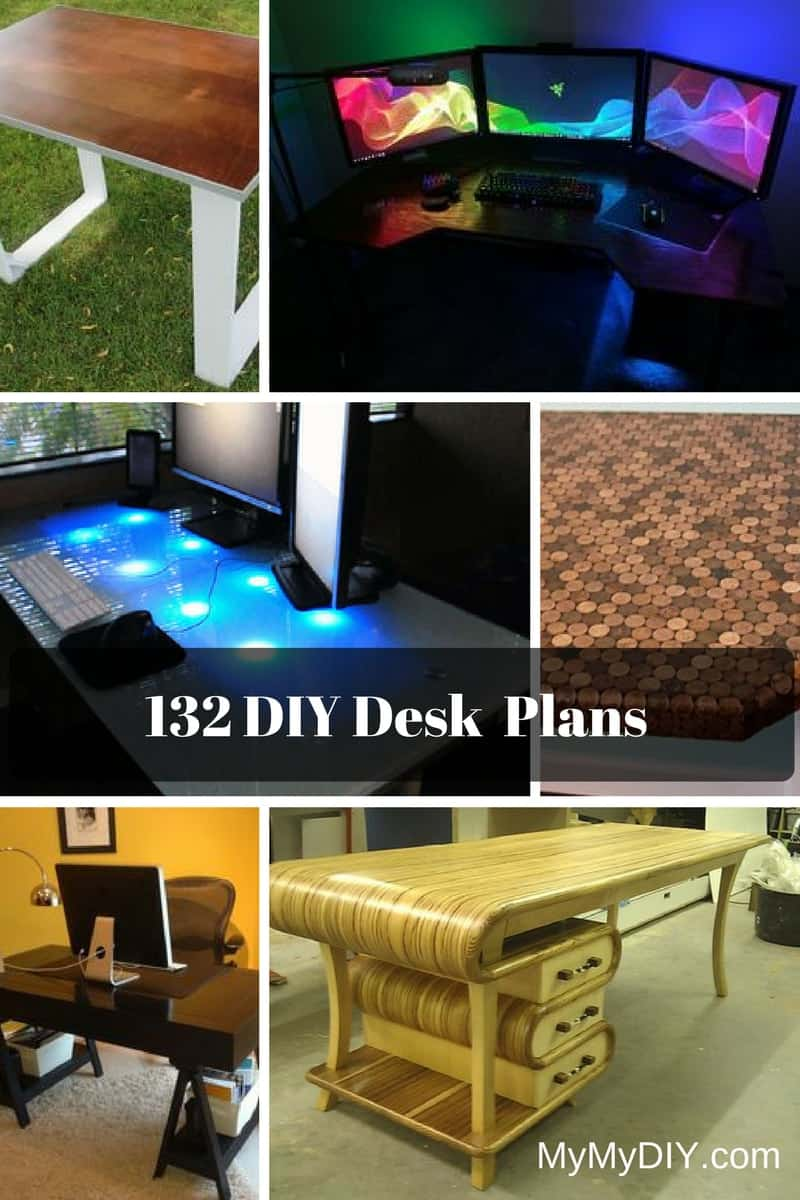 132 Diy Desk Plans Youll Love Mymydiy Inspiring Projects Computer Keyboard Diagram For Kids Cabinet Block
