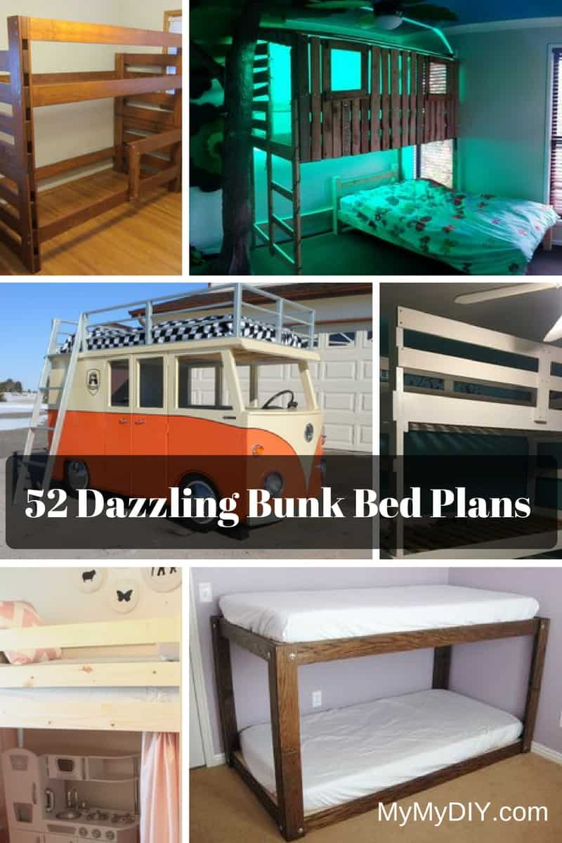 52 DIY Bunk Bed Plans