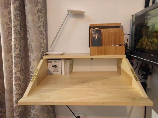 The Attached Folding Shelf Desk Design & 132 [DIY] Desk Plans You\u0027ll Love - MyMyDIY   Inspiring DIY Projects