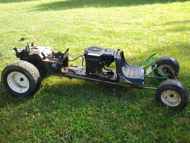 The Converted Riding Mower Go KartPlan