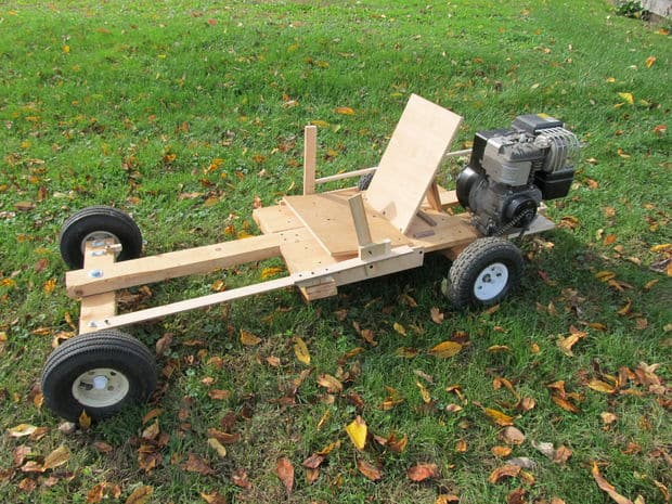 The Homemade Wooden Go-kart Design