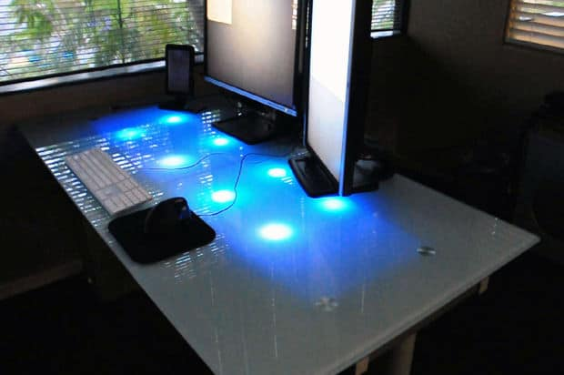 The LED Frosted Glass Desk Plan