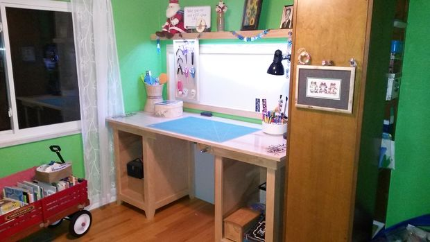 The Long Drafting Table Craft Desk Project
