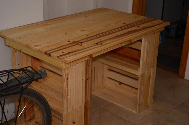 The Pine Pallet Crate Writing Desk Design